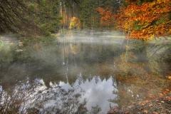 Podzimní Boubínské jezírko