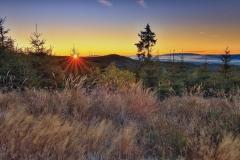 Svítání z Černé hory nedaleko Kvildy